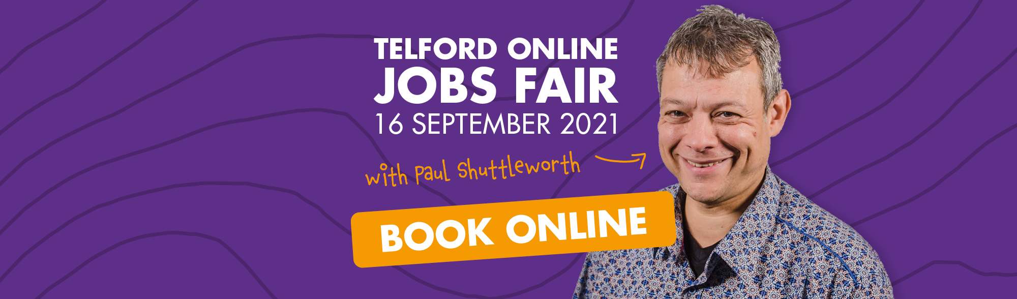 Graphic promoting an online jobs fair on 16 September 2021