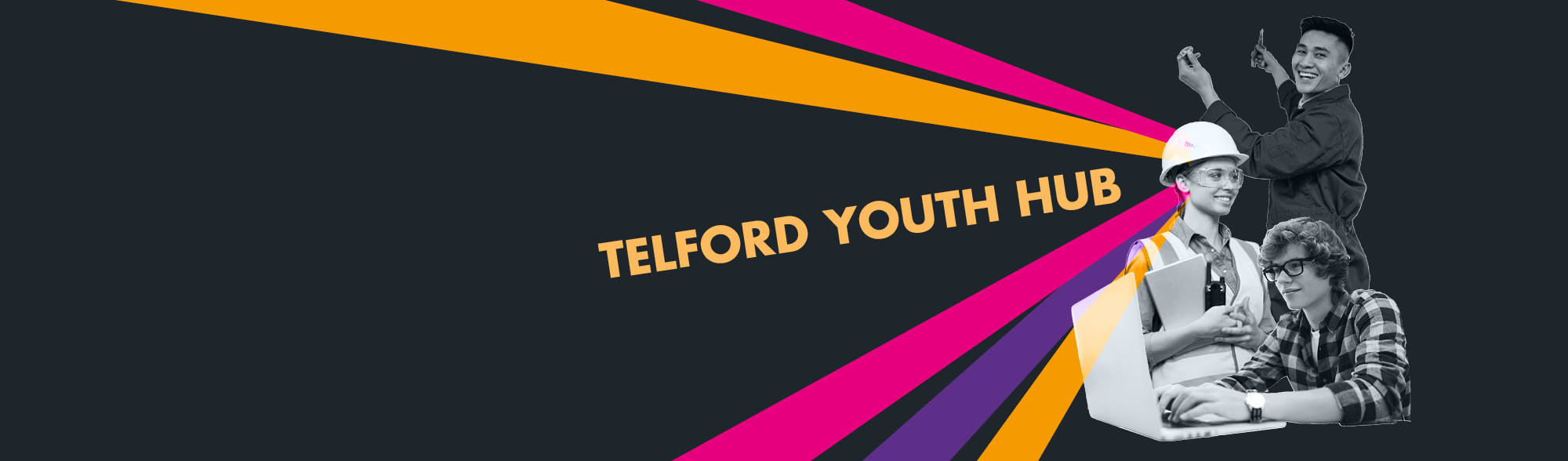 Graphic promoting the youth hub service